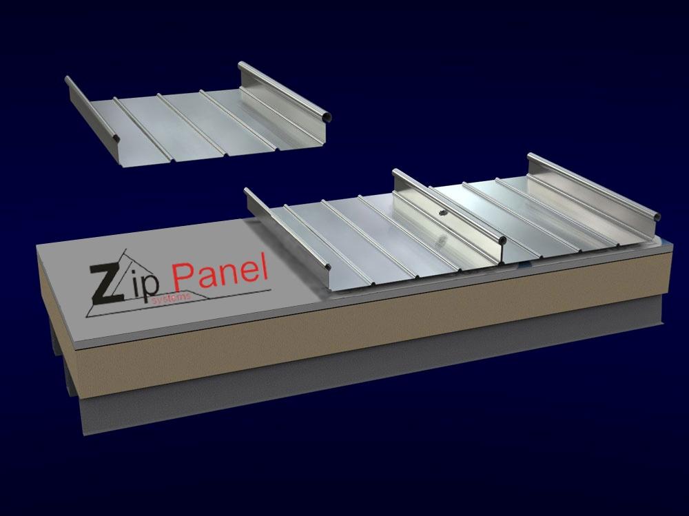اجرای پوشش سقف با سیستم زیپ پانل